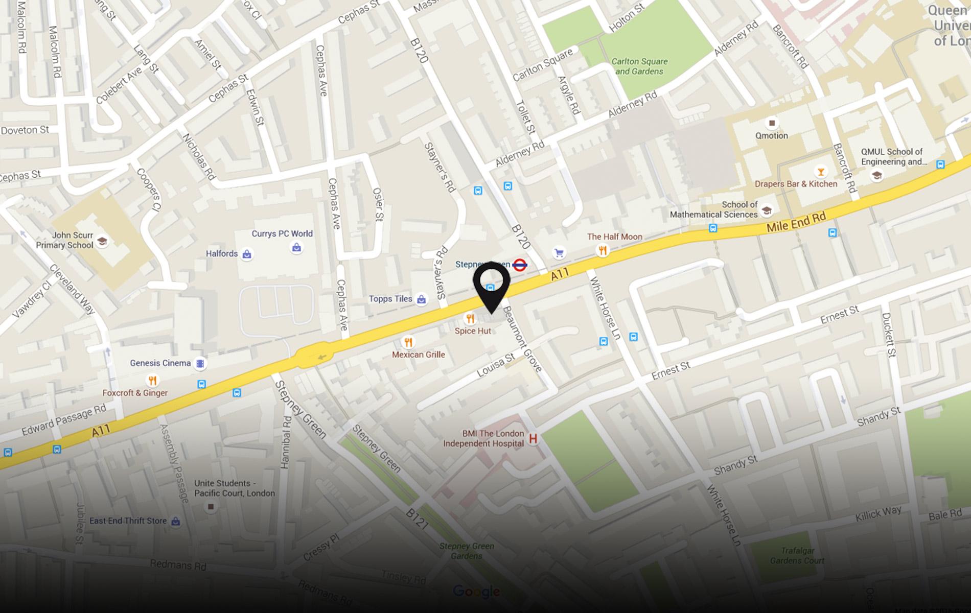 230 Mile End Road, London E1 4LJ / 0207 790 8890